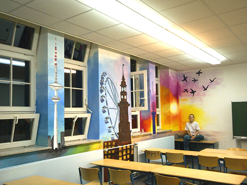 Schulprojekt_Wandmalerei